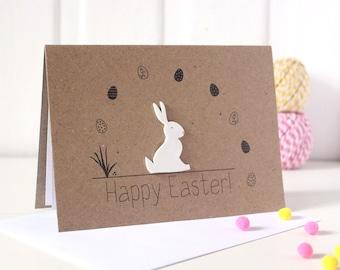 Easter Bunny Handmade Easter Card Easter Bunny Card Happy Easter Bunny Card Handmade Easter Cards for Easter Cute Easter Card Happy Easter