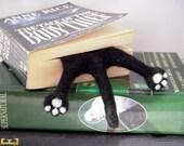 Black Cat Bookmark. Cat lover Gift -Needle Felted Cat bookmark