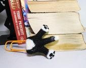 Dog Bookmark - Needle felted border collie bookmark - Unique Dog Lovers Gift