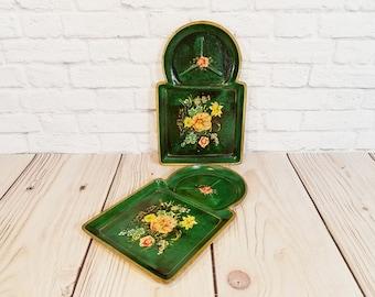 Vintage Florentine Style Snack Tray Set of 2