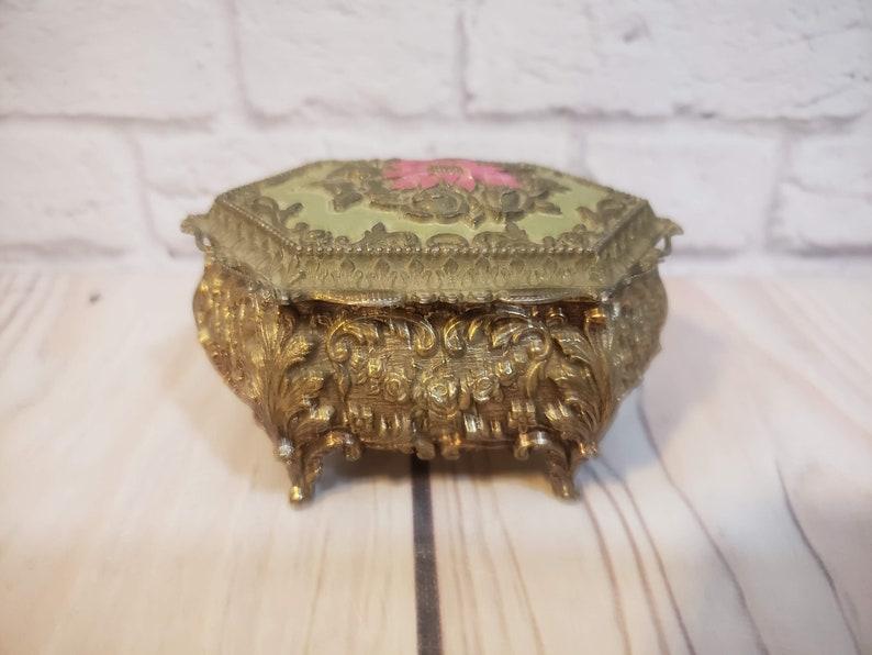 Vintage Footed Trinket Box