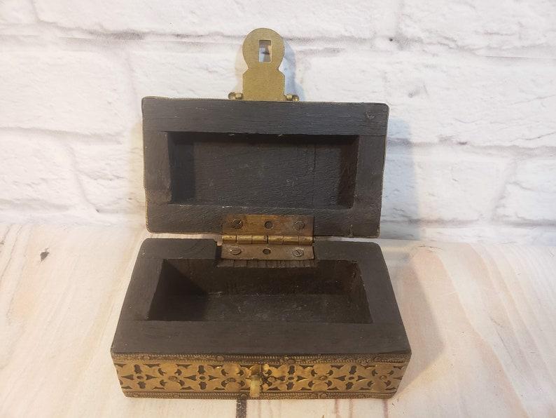 Vintage Treasure Chest Trinket Box