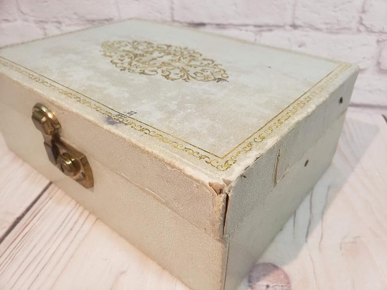 Vintage Blue Jewelry Box
