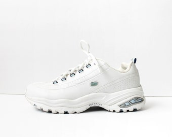 082dc026acd0 Vintage Skechers White Leather Sneakers
