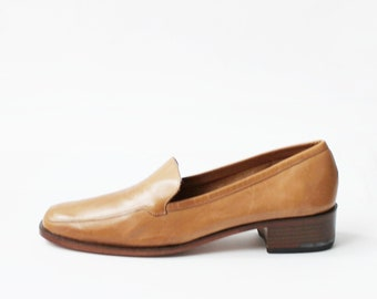 3a5acbd8971 1990s Cole Haan Tan Leather Loafers Shoes