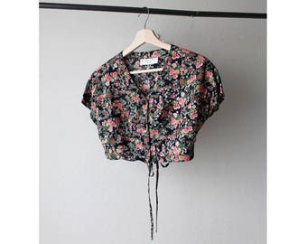 1990s Floral Cropped Top