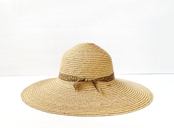 Vintage Wide Brimmed Straw Hat