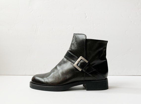 1990s Cole Haan Buckle Chelsea Ankle Boots