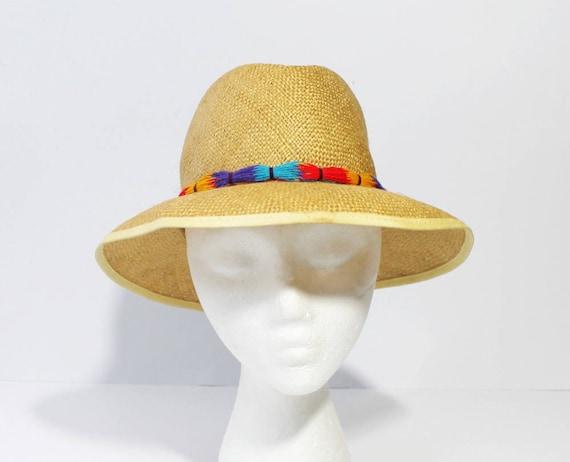 Vintage Betmar Tassel Straw Hat