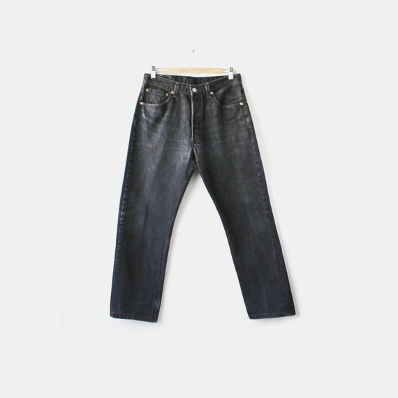 Vintage Levi's 501 Black Denim Jeans U.S.A. W31