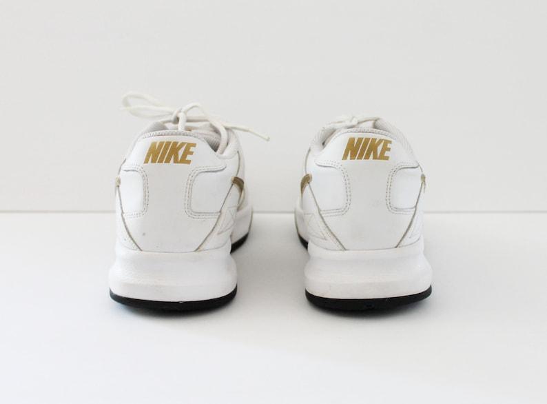 1990 Nike Del Park ll White Leather Sneakers AYN0ENGU