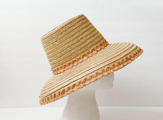 1960s Flat Top Straw Hat