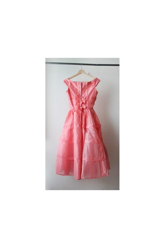 1950s Pink Bow Tie Tea Dress