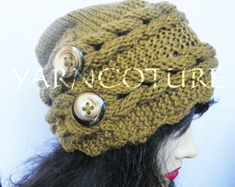 800cfd4f60b Rapunzel s Crown Winter Hat - Braided Hat - w Satin Lining Option - Braided  Fiber Art Design - Hand Knit Hat   YOU Choose The Colors