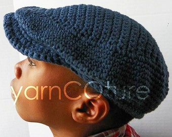 The JEFF Sport Cap - Newsboy Hat For Kids   -  In Cool Absorbent Cotton / Denim Blue / Ready-To-Ship