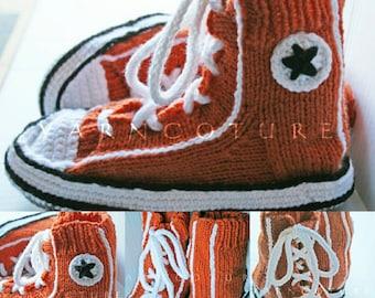 "Handknit ""Famous Maker Inspired"" Sneakers / Slippers / Unisex"