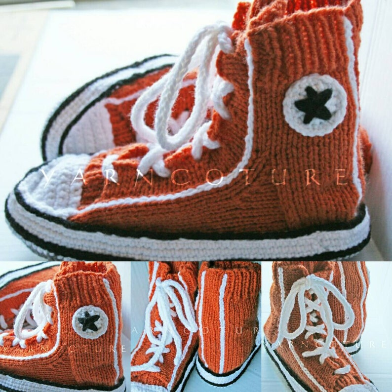 Handknit Famous Maker Inspired Sneakers / Slippers image 0