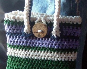 LAVENDER GREENS Handbag OOAK-Fully Lined/Complete With Accessories / On Sale Now