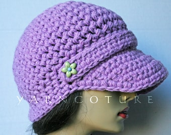 S A L E  The Slouchy Brimmed Beanie - In Lavender Plum