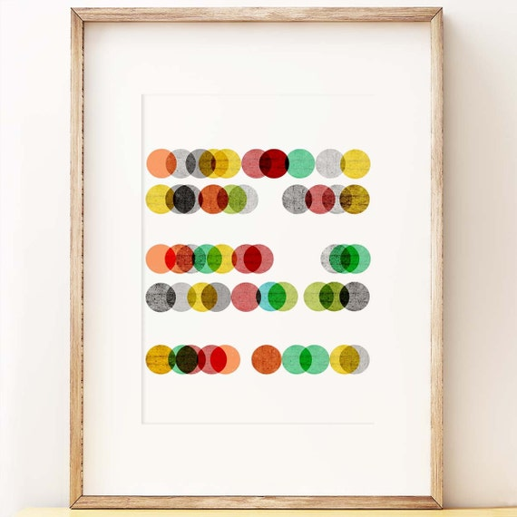 Abstract Geometric wall art print \'Abacus\' dots art | Etsy