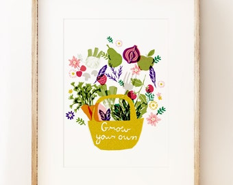 Grow Your Own - Floral wall art print