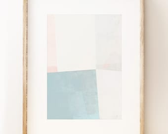 Calming abstract geometric art print 'Resolve 2'