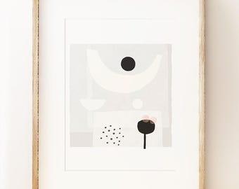 Contemporary abstract art print 'Offering', modern wall art, gallery wall, modern art poster