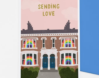 Rainbow Windows positive vibes card