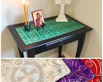 Liturgical Table Runner Set - Reversible Table Runners - Catholic, Orthodox Liturgical Year