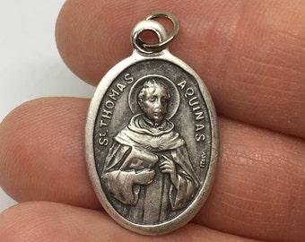 Thomas Aquinas Medal - Catholic Saint Medal - Saint Thomas Aquinas- Catholic medal necklace