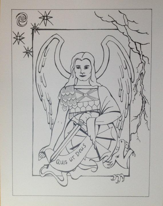 Saint Michael The Archangel Print