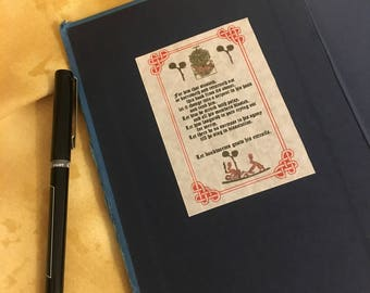 Medieval Book Curse Bookplates Illuminated Manuscript 20 pack