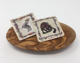 Medieval Animals decals - waterproof decals - illuminated manuscripts