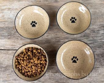 Small Shallow Handmade Ceramic Cat Dish