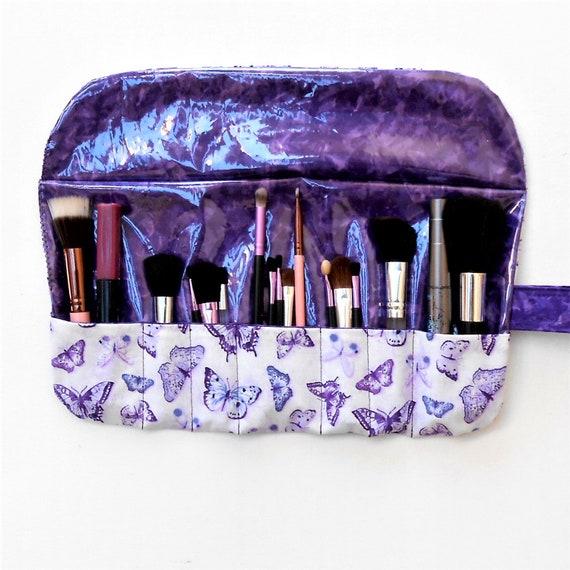 Makeup Brush Roll Up Bag Holder Bee Iris