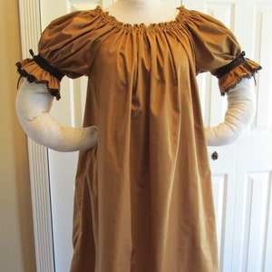 DDNJ Choose Color Short Slv Ruffle Cuff Chemise Costume Plus Made ANY Size Renaissance Cosplay Pirate Wench Dress S M L XL 2X 3X 4X 5X 6X