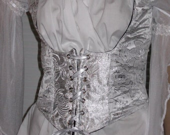 2122d83c7 DDNJ Fully Reversible Corset Style Front Lace Underbust Bodice Plus Custom  Made ANY Size Renaissance Pirate Anime Wench Steampunk Cosplay