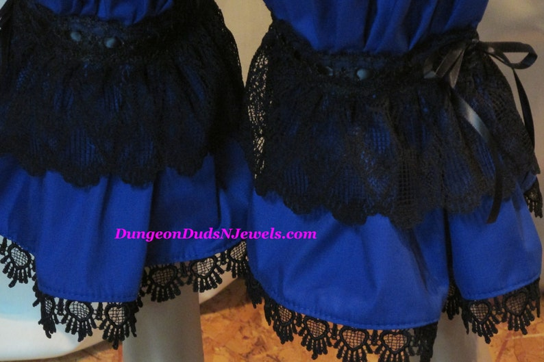 DDNJ White Victorian Style Lace Bloomers Renaissance Vampire Gypsy Pirate Pantaloons Civil War Anime Plus Custom Made ANY Size Costume