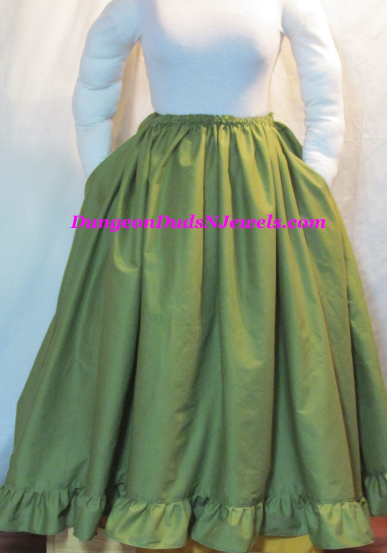DDNJ Choose Color Skirt Ruffle Pocket Renaissance Civil War Pirate Witch Costume Plus Made ANY Size Cosplay Anime LARP Steampunk Dress Hoop