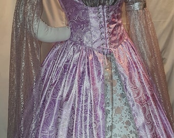 DDNJ Choose Color Brocade Renaissance Corset Style Underbust Overdress Plus Custom Made ANY Size Cosplay Larp Anime Pirate Fairy Medieval