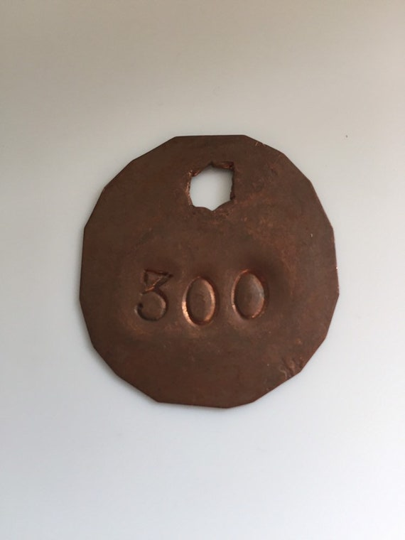 "Copper Cow Tag ""300"""