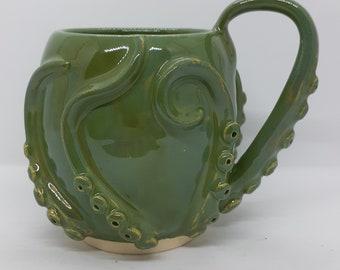 bright green octomug, the octopus mug!
