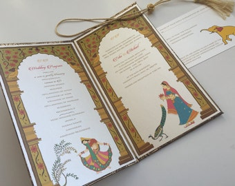 Indian Wedding Invitation and RSVP Card - 'The Palace of Love' from Samvadiya