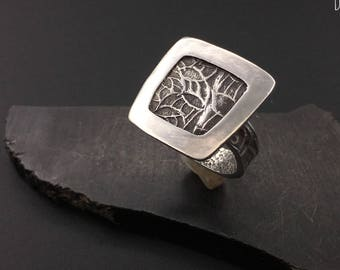 Special Price, Sterling silver artisan handcrafted  ring,  designs by suzyn