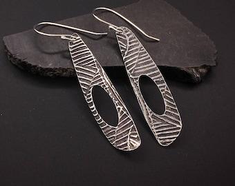 Earrings, silver, tribal, artisan, handmade, lightweight Dangle earrings, hypoallergenic earwires
