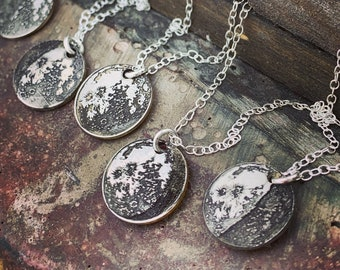 Celestial Jewelry · Moon Phase Necklace · Personalized Jewelry · Moon Jewelry · Custom Necklace · Silver Jewelry