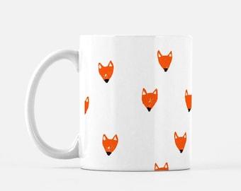Sketched Fox Face Mug