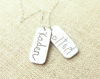7f316be791df4 Items similar to Mom Jewelry - Personalized Necklace - ACTUAL ...