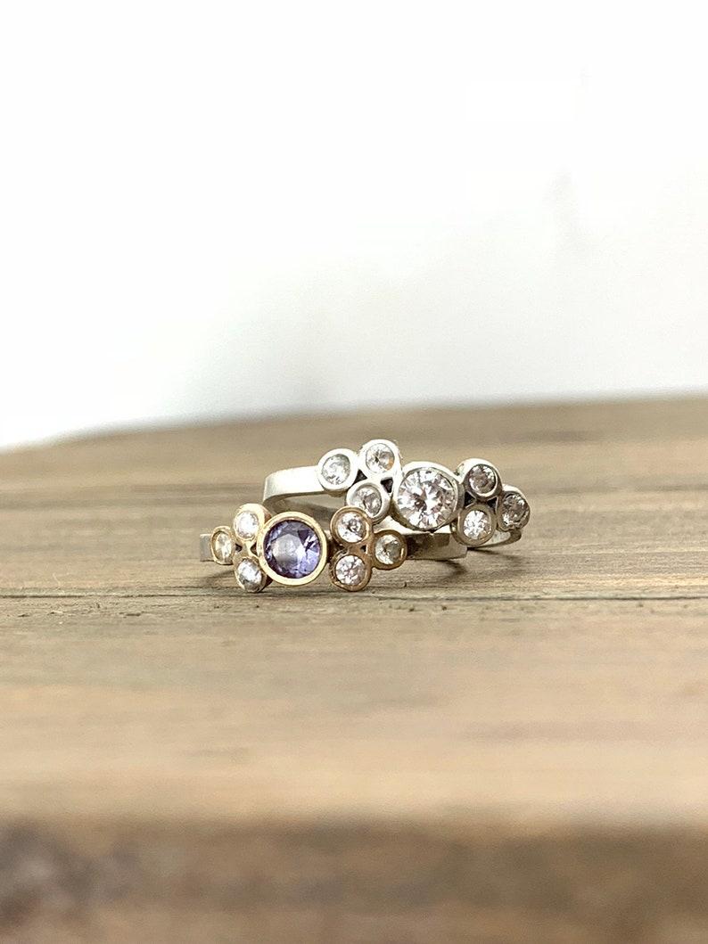 Engagement Ring  \u00b7 Valentine/'s Day Gift  \u00b7 Alexandrite Ring  \u00b7 Diamond Ring  \u00b7 Unique Engagement Ring  \u00b7 Birthstone Ring  \u00b7 Mutli stone Ring