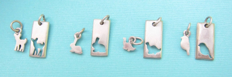 Mother Daughter Necklace Set 2 Rectangles Mother/'s Day Jewelry Ready to Ship